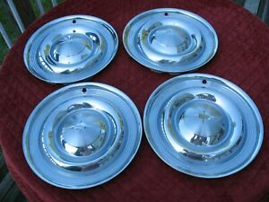 Vintage 1957 Oldsmobile 14 Wheel Cover Hubcaps Set Of 4 Oem