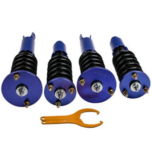 Complete Set Coilovers For Honda Accord 90 97 Acura Cl 97 99 Adj Height Blue