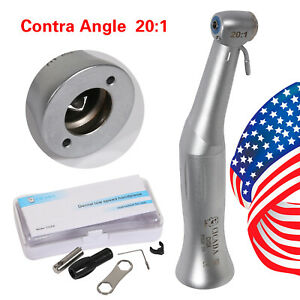 Dental 20 1 Reduction Implant Contra Angle Handpiece Push Button For Nsk M d