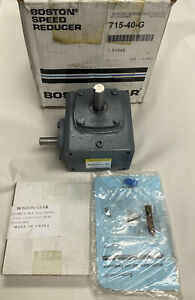 Boston Gear 715 40 g Right Angle Worm Gear Speed Reducer Ratio 40 1 Nos