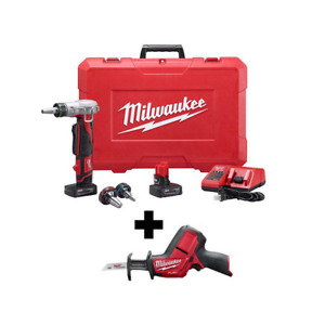 M12 12 volt Lithium ion Cordless Propex Expansion Tool Kit And Reciprocating Saw