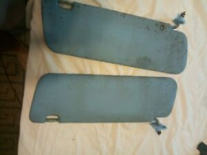 1979 80 81 82 83 Toyota Pickup Truck Sun Visor Set 74310 89109 04 Oem Used Blue