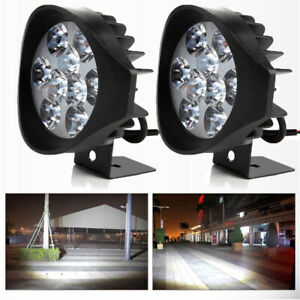 2pcs 4 Inch 12v 90w Led Work Light Bar Spot Pods Driving Off Road Tractor 4wd