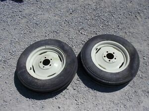 Allis Chalmers Ca Tractor Ac Original Front Rims 6 50 X 16 Tires Nuwhairs