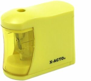 New Elmers X acto Compact 2 Aa Battery powered Pencil Sharpener Assorted Colors