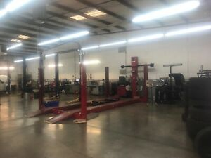 Rotary 4post Lift With Hunter Dsp 600 Allignment Machine