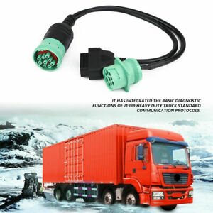9 Pin To J1939 Obd2 Obdii Diagnostic Scanner Cable Adapter Cummins Diesel Engine