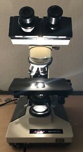 Tested Olympus Bh2 Microscope 4 Obj Light Source Excellent Cosmetic Deal