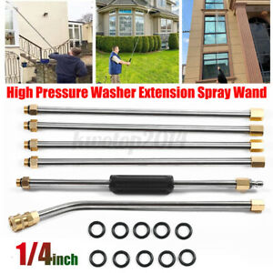 6pc High Pressure Washer Extension Spray Lance Wand 1 4 Nozzle With 10x O ring