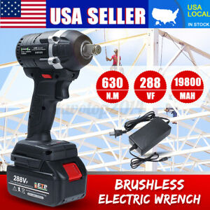 630n m 288vf Electric Cordless Brushless Impact Wrench 19800mah Ratchet Driver
