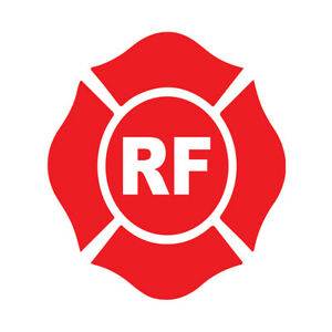 Roof And Floor Decals Rf Red Anti slip Shape Construction Signs Stickers