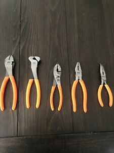 Mac Tools 5 pc General Purpose Pliers Slip Joint Cutters Needle Nose