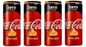 4X Coca Cola Zero Mango Limited Summer Edition Unopened Can 330ML Free Shipping