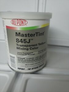 Axalta Dupont 845j Yellow Transparent Mastertint Toner Chromabase Premier Quart