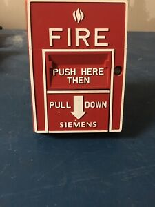 Siemens Hms d Addressable Red Manual Pull Station Fire Alarm 500 033400