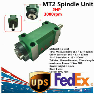 Mt2 Spindle Power Head Unit For Cnc Milling Drilling Boring Machine 2 Hp 3000rpm