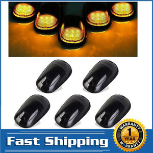 5pcs Amber Led Marker Light Smoke Lens Cab Roof For Dodge Ram 2500 3500 2003 16