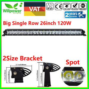 25inch 120w Cree Single Row Led Light Bar For Off Road Car Atv Suv 4wd Ute Spot