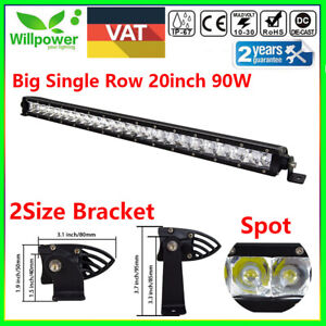 20inch 90w Cree Single Row Led Light Bar For Off Road Car Atv Suv 4wd Boat Spot