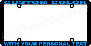 Blue Lettering Thin Style Custom Personalized Color License Plate Frame