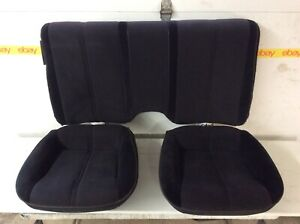 82 92 Chevy Camaro Firebird Black Cloth Rear Seat Set 3 Seats 1982 1992