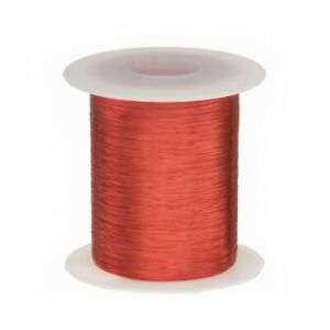 40 Awg Gauge Heavy Copper Magnet Wire 2 Oz 3993 Length 0 0038 155c Red