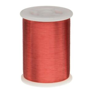 40 Awg Gauge Heavy Copper Magnet Wire 1 0 Lb 31940 Length 0 0038 155c Red