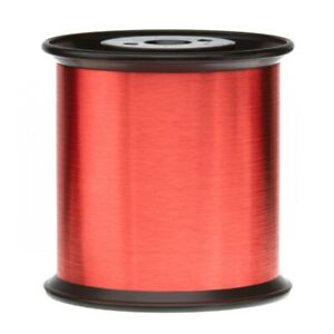 36 Awg Gauge Heavy Copper Magnet Wire 5 0 Lb 61900 Length 0 0060 155c Red