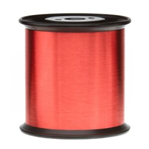 40 Awg Gauge Heavy Copper Magnet Wire 5 0 Lb 159700 Length 0 0038 155c Red