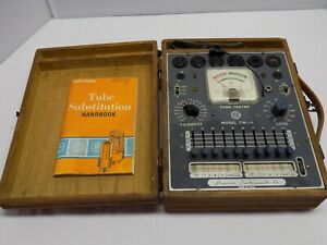 Vintage Superior Instruments Tube Tester Tw 11 1956 Model With Case And Manual
