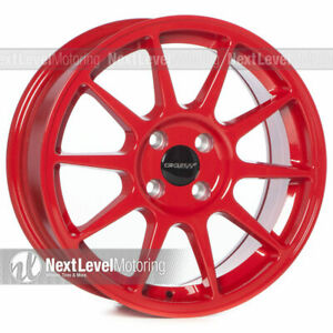 1 Circuit Cp23 167 4 100 35 Gloss Red Wheels Type R Style Fits Acura Integra