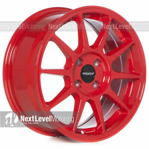 Circuit Cp23 16 7 4 100 35 Gloss Red Wheels Type R Style Fits Acura Integra