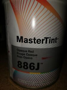 Dupont Axalta Mastertint Cromax Qt 886j Chromabase Opaque Red Quart Body Shop