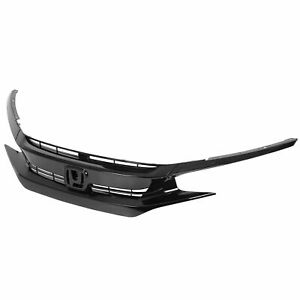 For 2016 2018 Honda Civic Oe Style Front Bumper Grille Hood Mesh Grill Guards
