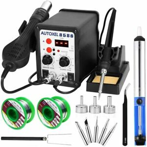 Autoxel 2 In 1 Soldering Station digital Display Smd Hot Air Rework Station And