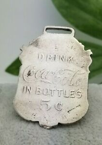 Silver Coca-Cola Watch Fob-Coke Collectable- Vintage- Estate- 1920s- Sterling-SS