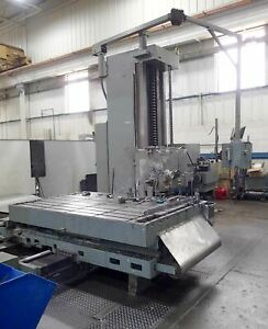 Giddings Lewis 6 Boring Mill Dynapath Cnc 98 X 60 Table