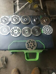 Lot Of 10 Meat Grinder Plates 22 1 4 3 8 3 16 Other Sizes