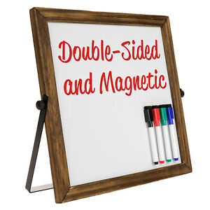 Rustic Double Sided 11 X 11 Whiteboard Reversible Dry Erase Magnetic