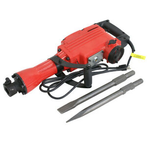 2200w Electric Demolition Jack Hammer Concrete Breaker Punch 2 Bits Case 120v
