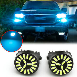 2x Ice Blue Led Daytime Running Light Drl Bulbs For Gmc Sierra 1500 2500 3500 Hd