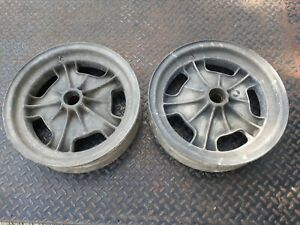 Set Of 2 Halibrand Magnesium Sprint Car Gasser Wheels Rims 15 X 3 5 Very Rare