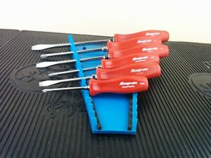 Ag776 Snap On Screwdriver Set 6pc Hard Handle Classic Red Sdd