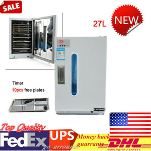 27l Disinfection Cabinet Dental Medical Sterilizer 10x Free Trays Timer New
