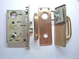 Sargent 8105 Left Hand Lever Set Mortise Lock Satin Bronze Switch In Front Plate