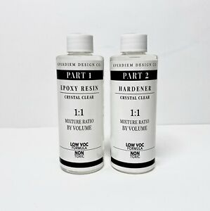 Epoxy Resin 8 Oz Kit For Super Gloss Coating Crafts Table Tops Crystal Clear