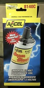 Accel 8140c Chrome Canister Ignition Coil new Heymr
