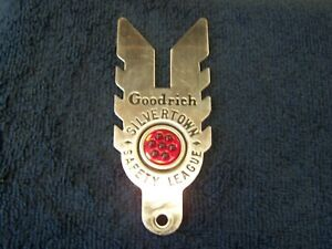 Vintage License Toppers Goodrich Silvertown Safety League