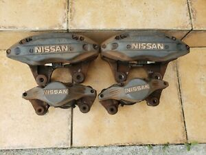 Jdm Nissan R33 R34 4 Pot 2 Pot Front Rear 30mm Brake Calipers Aluminum Oem