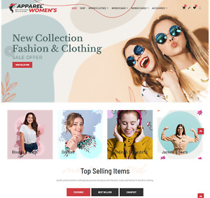 Apparel Women Shop Wordpress Dropshipping Website Custom E commerce Store
